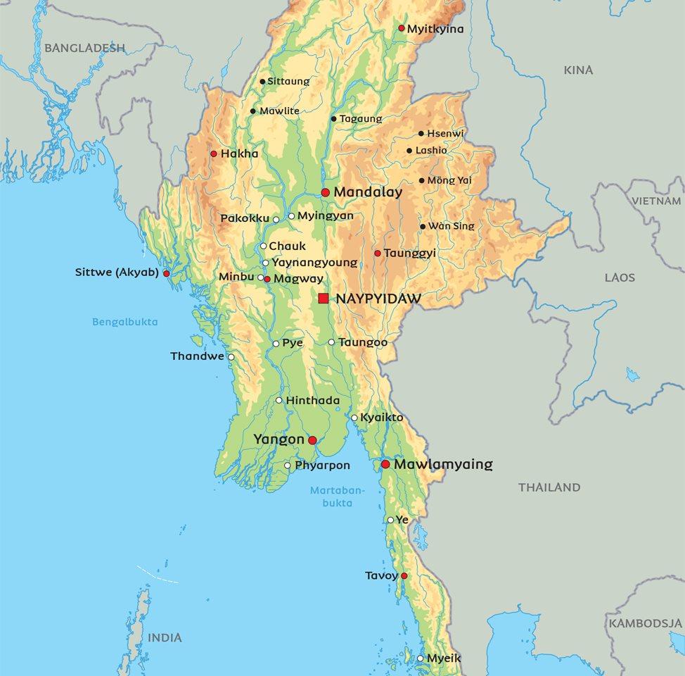 kart burma Kart Burma: Se blant anbeliggenheten for hovedstaden Rangoon kart burma