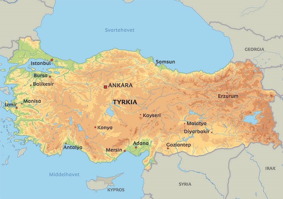 kart over hellas og tyrkia Kart Tyrkia: Se bla. beliggenhet for Ankara eller Istanbul kart over hellas og tyrkia