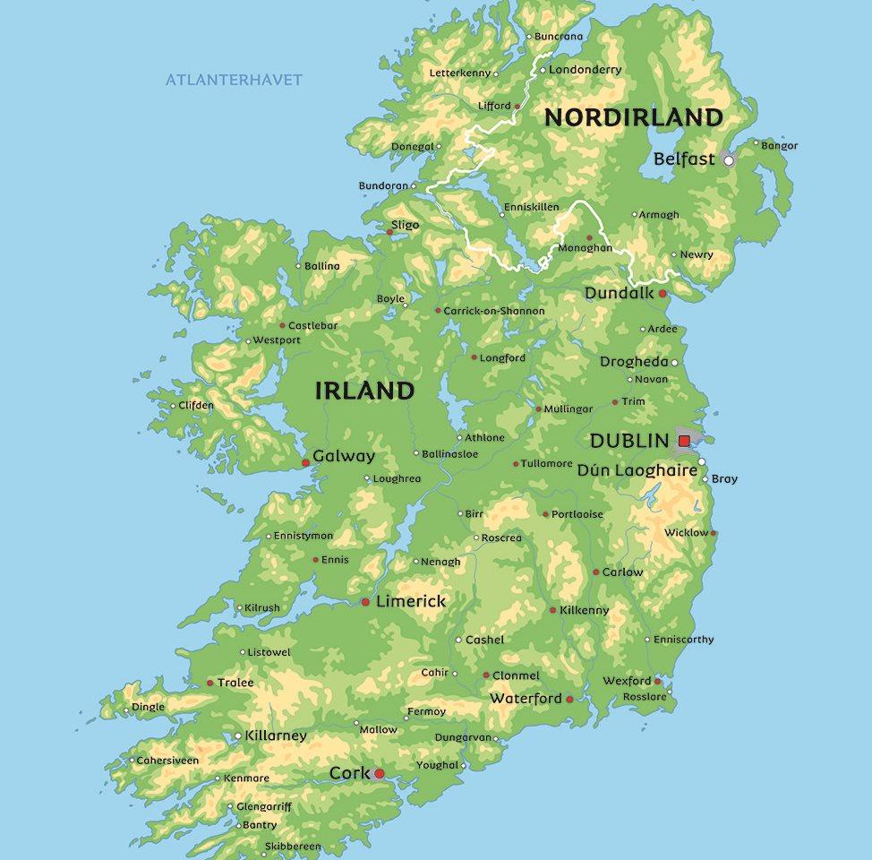 kart irland Kart Irland: Se bla. nærmere på Dublin og Galway kart irland