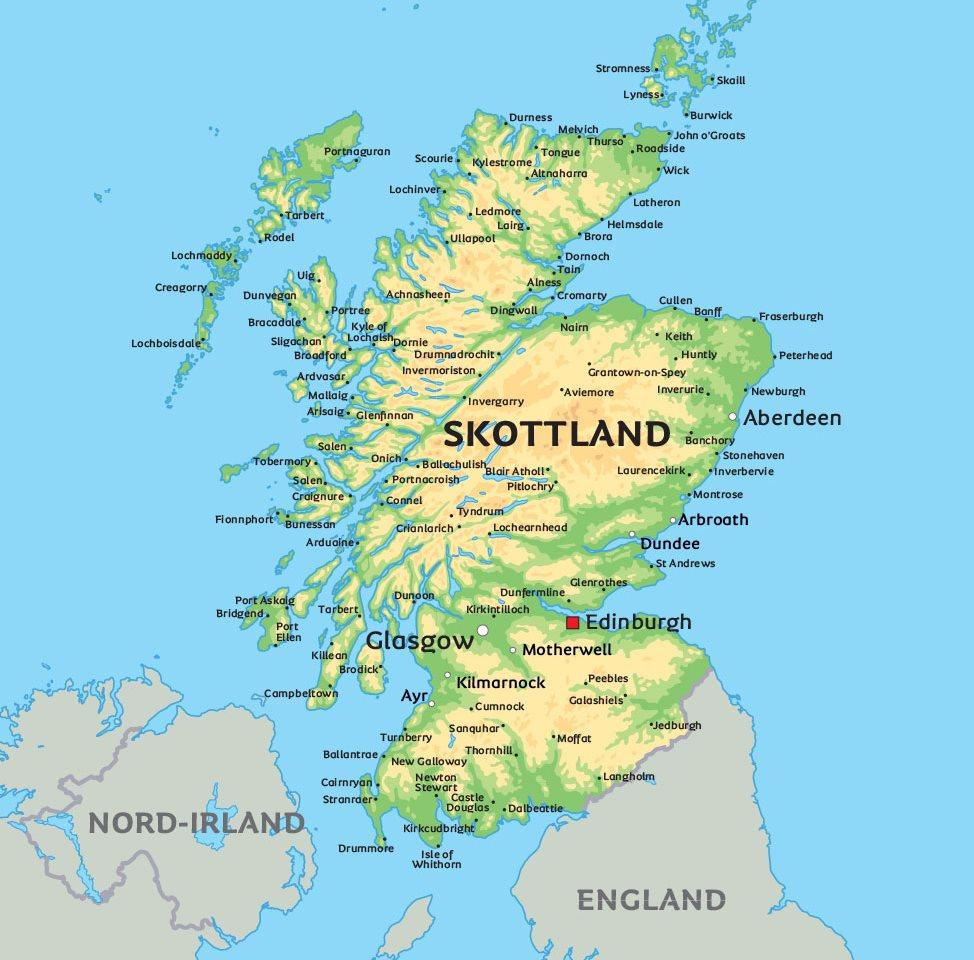 kart skottland Kart Skottland: Se bl.a. beliggenheten for Glasgow kart skottland