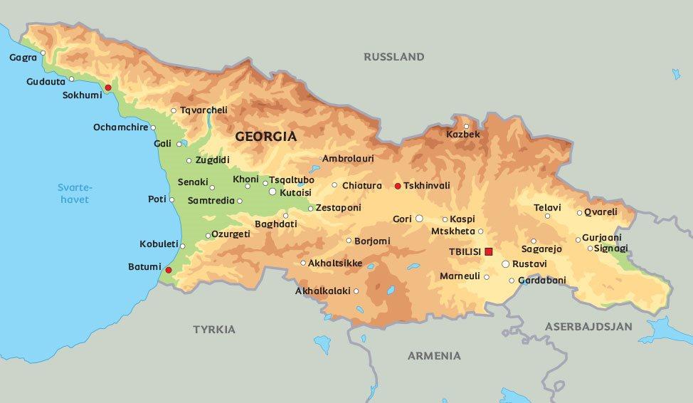 georgia kart Kart Georgia: Se bl.a. plasseringen av Tbilisi georgia kart