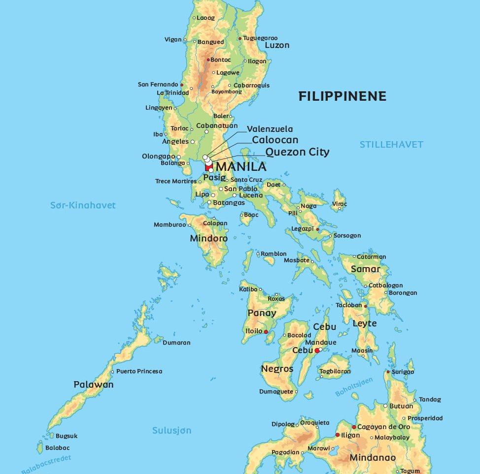 kart filippinene Kart Filippinene: se eksempelvis nærmere på Manila kart filippinene