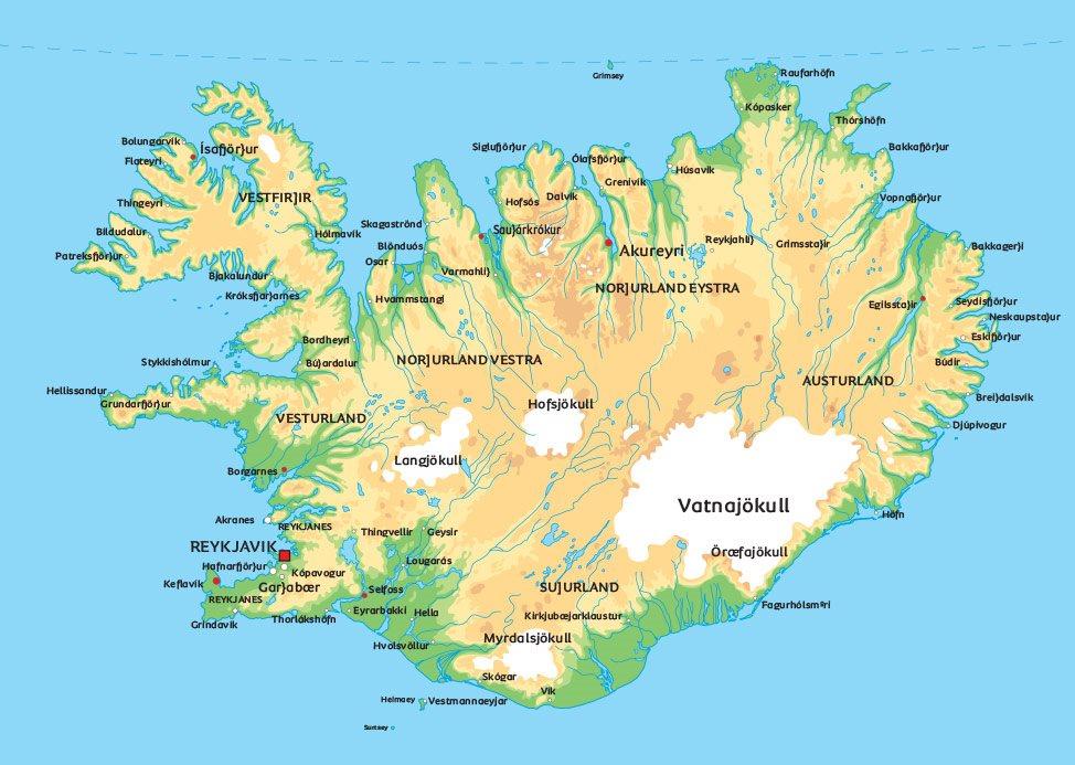 kart island Kart Island: Se bla. beliggenhet for hovedstaden Reykjavik kart island
