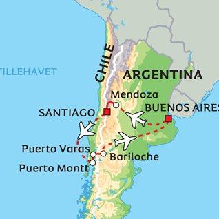 kart over andesfjellene Argentina og Chile – tvers over Andesfjellene kart over andesfjellene