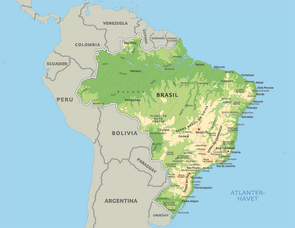 brasil kart Kart Brasil: Se blant anplasseringen av Rio de Janeiro eller  brasil kart