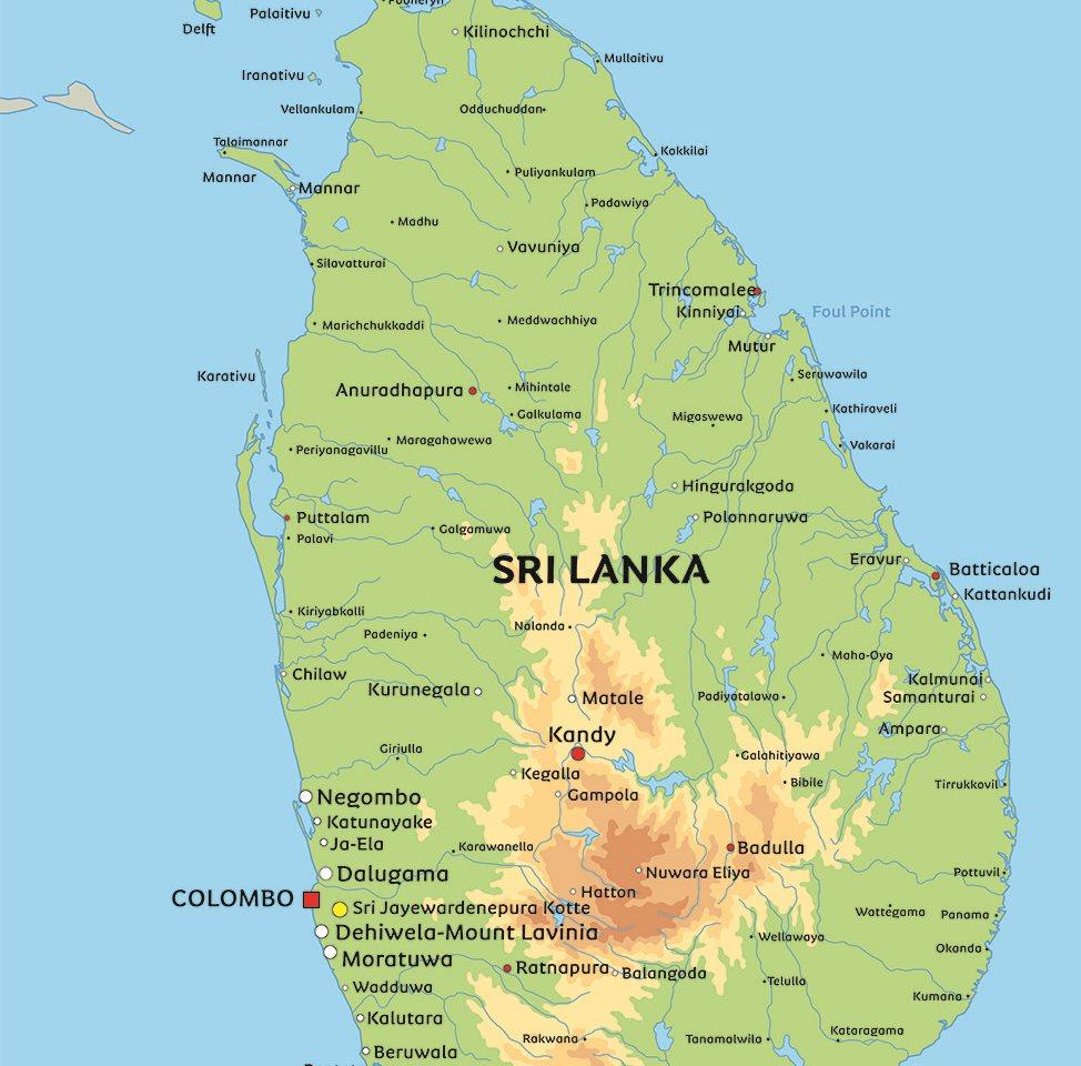 sri lanka kart Kart Sri Lanka: Se blant anplasseringen av hovedstaden Sri Lanka sri lanka kart