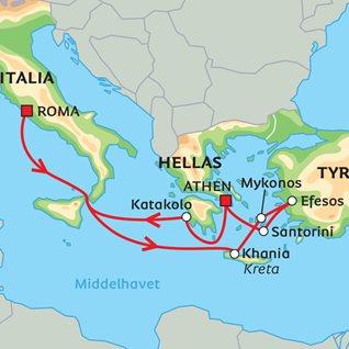 efesos kart Middelhavscruise med Albatros