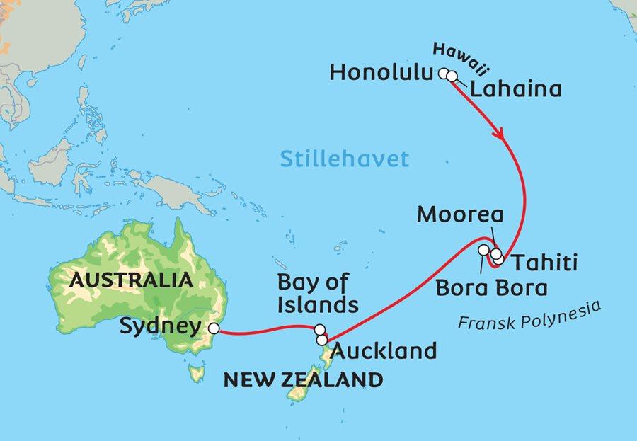Cruise Fra Hawaii Til Polynesia Og Australia