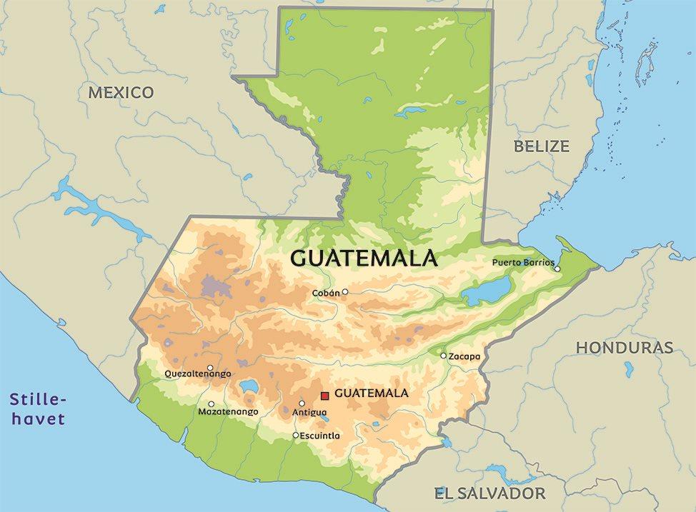 guatemala kart Kart Guatemala: Se bla. beliggenhet for hovedstaden Guatemala City. guatemala kart