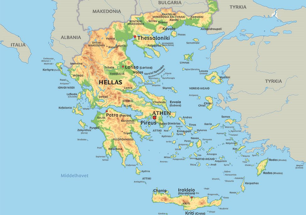 kart hellas tyrkia Kart Hellas: se bla plasseringen av middelhavsøya Kreta kart hellas tyrkia
