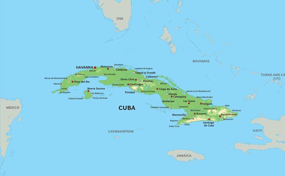 kart over cuba Kart Cuba: Se bla. beliggenhet for Havana kart over cuba