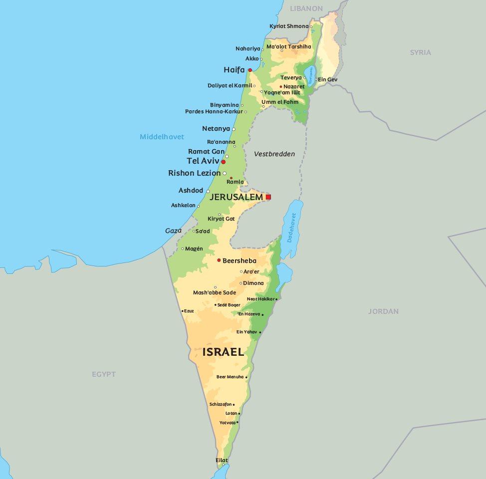 kart over israel Kart Israel: Finn de største severdigheter og byer i Israel på  kart over israel