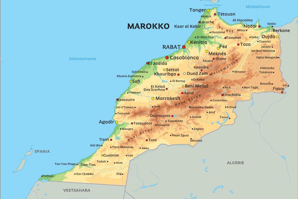 kart over marrakech Kart Marokko: Se bl.a. beliggenheten af Marrakech kart over marrakech